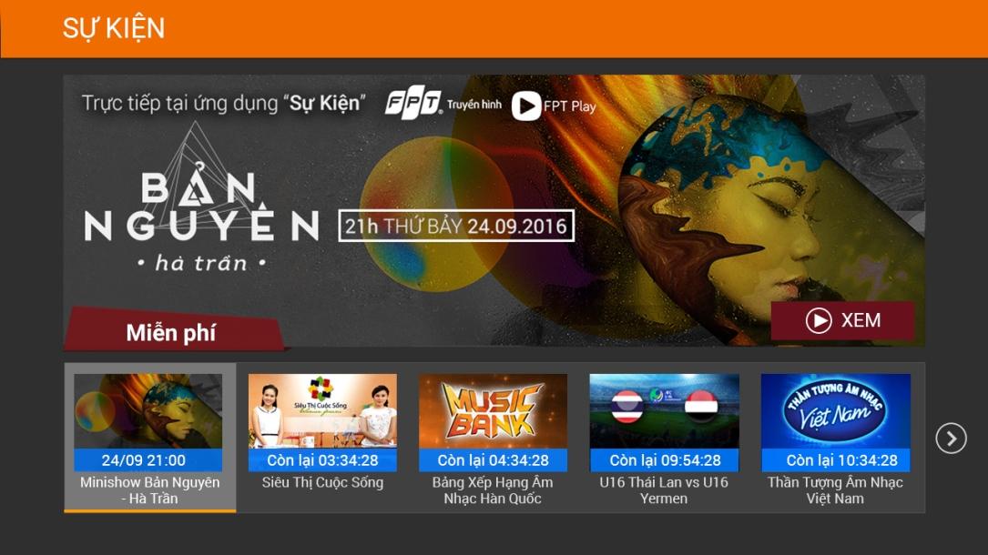 Live Stream sự khác biệt của truyền hình FPT với dịch vụ khác